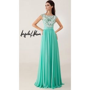 Angela & Alison Teal Gown